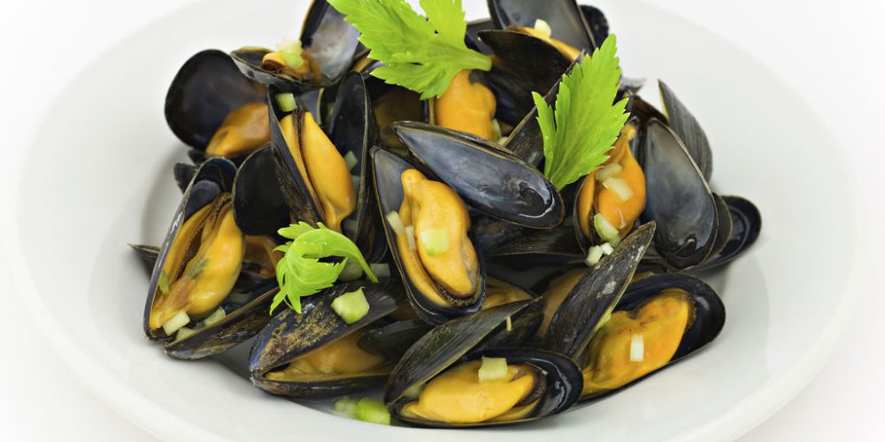 Mussels in White Wine with Fennel & Chilli